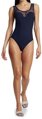 Karla Colletto Swim Clara Scoopneck One-Piece Swimsuit