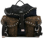 No.21 embroidered backpack - women - Polyester - One Size
