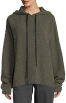 Robert Rodriguez Merino Wool Hooded Pullover Sweatshirt