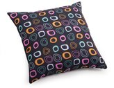 ZUO Kitten Pillow, Small, Chocolate Base and Multicolor Pattern