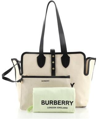 Burberry Soft Belt Bag Canvas with Leather Medium