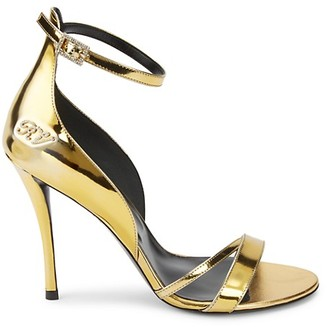 Roger Vivier Metallic Patent Leather Heeled Sandals