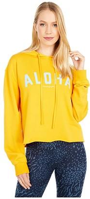 Spiritual Gangster Serena Pullover Hoodie (Aloha/Marigold) Women's Clothing