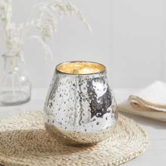 The White Company Mercury Tealight Holder, Silver, One Size
