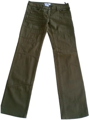 Christian Dior Khaki Cotton Jeans