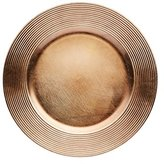 Kitchen Craft 33 cm Winter Woodland Ribbed Charger Plate, Dark Gold