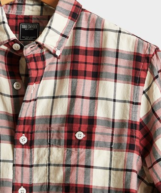 Todd Snyder Red Plaid Flannel Shirt