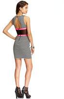 Material Girl Juniors' Striped Illusion Bodycon Dress