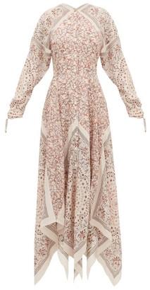 Altuzarra North West Scarf-print Silk Dress - Womens - Brown Multi