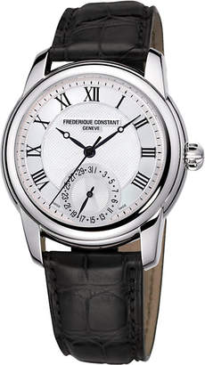 Frederique Constant FC-710MC4H6 Classic stainless steel and leather unisex watch