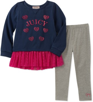 Juicy Couture Girls' 2 Pieces Tunic Legging Set Pants