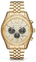 Michael Kors Lexington Pave-Dial Chronograph & Date Bracelet Watch