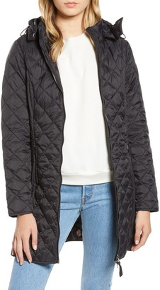 Joules Chatham Hooded Longline Quilted Jacket