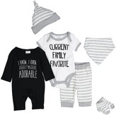 Baby Essentials Black 'I'm Adorable' Playsuit Set - Infant