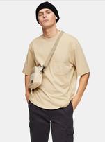 TopmanTopman Stone Marl Boxy T-Shirt