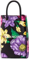 Balenciaga Floral Shop Phone Holder Bag in Multicolor | FWRD