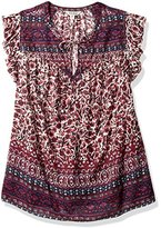 Lucky Brand Women's Plus Size Lucy Peasant Top