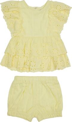 Habitual Kids Eyelet Ruffle Shirt & Shorts Set