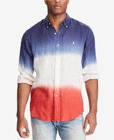 Polo Ralph Lauren Men's Big & Tall Classic Fit Ombre Shirt