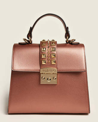 Mario Valentino Valentino By Copper Cleo Studded Leather Satchel
