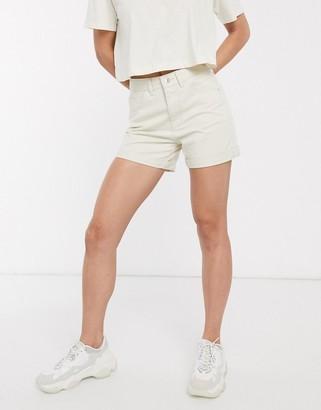 Vero Moda denim mom shorts in ecru