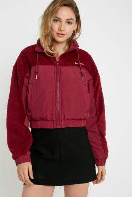 Urban Outfitters Iets Frans... iets frans. Fleece & Nylon Black Jacket - black XS at