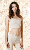 Again Collection - Fern Crop Top in Neutral