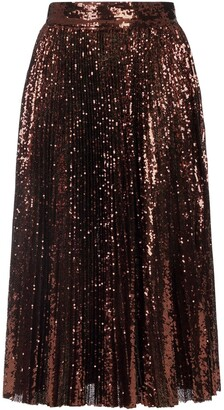 Dolce & Gabbana Sequin Pleated Midi Skirt