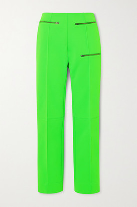 Kwaidan Editions Zip-detailed Stretch-jersey Straight-leg Pants - Green