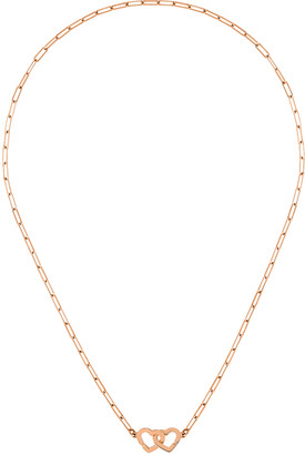 Dinh Van Double Coeurs R9 Necklace - Rose Gold
