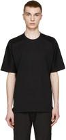 08sircus Black Loopwheel Terry T-Shirt