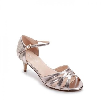 Paradox London Glitter 'Heath' Wide Fit Two Part Low Heel Sandal