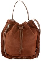 AllSaints Club Fringe Bucket Bag