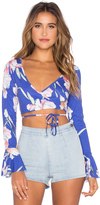 MinkPink By The River Wrap Top