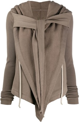 Rick Owens Layered Tie-Front Cardigan