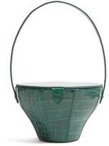STAUD Alice Crocodile-effect Leather Bag - Womens - Green
