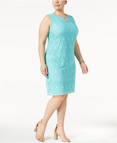 JM Collection Plus Size Lace Sheath Dress, Only at Macy's
