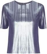 PAISIE - Silver Metallic Top