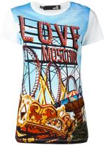 Love Moschino fun fair printed T-shirt - women - Cotton - 42