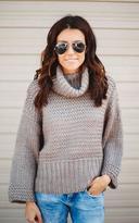 Ily Couture Chunky Turtleneck Dolman Sweater