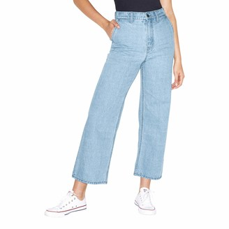 American Apparel Women's Crop Wide Leg Jean