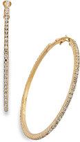 Thalia Sodi Crystal Pavé Hoop Earrings