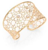 Roberto Coin Bollicine Diamond & 18K Rose Gold Large Cuff Bracelet