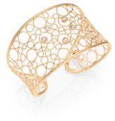 Roberto Coin Bollicine Diamond & 18K Rose Gold Large Cuff Bracelet