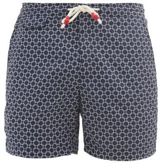 Orlebar Brown Standard Geometric-print Swim Shorts - Navy