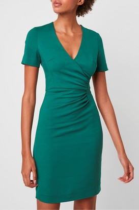 French Connection Esmei Stretch V Neck Bodycon Dress