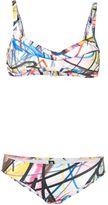 Jeremy Scott scribble print bikini