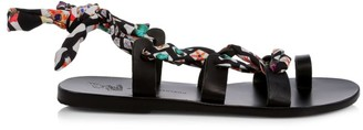 Ancient Greek Sandals x Mary KatrantzouAlcyone Tie-Up Sandals