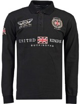 Geographical Norway Long-Sleeved Cotton Polo Shirt