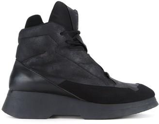 Julius panelled hi-top sneakers